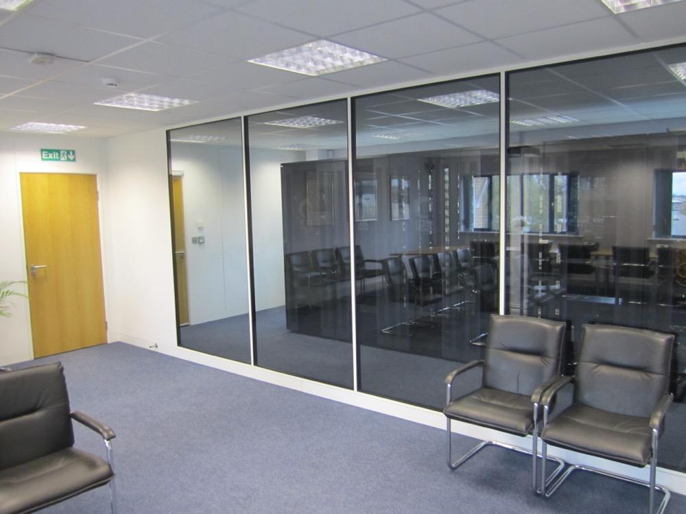 Glazed Office Partition Glass Partitioning