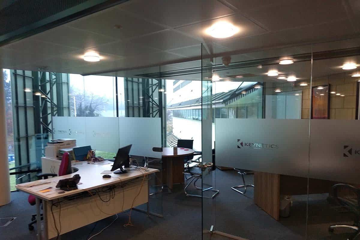 Frameless Glass Partition Installation In Malvern Contract Interior Systems Cis